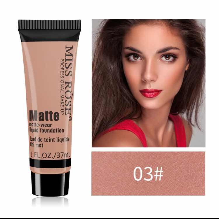 MISS ROSE Concealer Repair Nourishing Liquid Foundation Matte Oil Control Concealer Foundation Cream