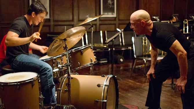 Whiplash - tocando bateria - aluno e professor