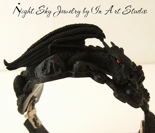 Dragon Bracelet, Black Dragon Jewelry