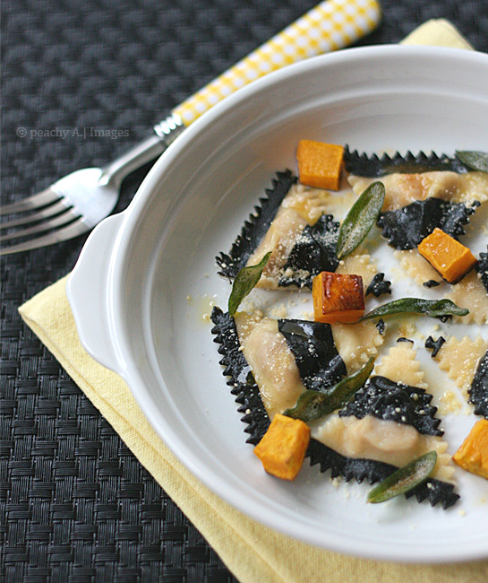 Ravioli with Pumpkin and Sage Brown Butter Sauce