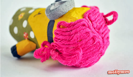 cabelo de boneca com lã