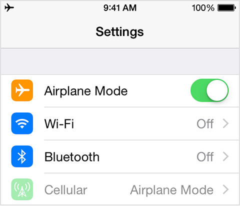Image result for phone turned on airplane mode