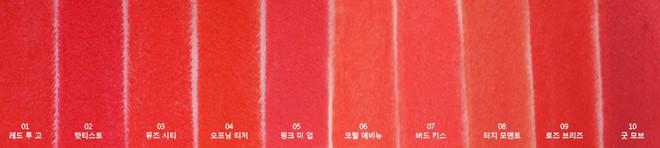 bảng màu son bấm Clio Rouge Heel Velvet