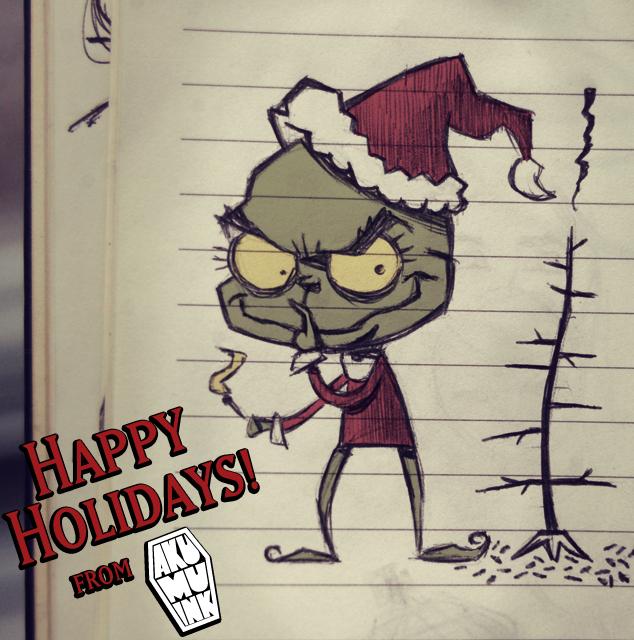 grinch, grinch christmas, grinch tshirt, cute creepy, creepy christmas, emo christmas, emo character, grinch christmas sketch