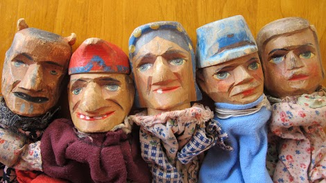 Punch and Judy, hand-made by my great-grandfather