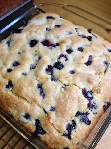 Healthy Home Revolution: Blueberry Buttermilk Coffee Cake