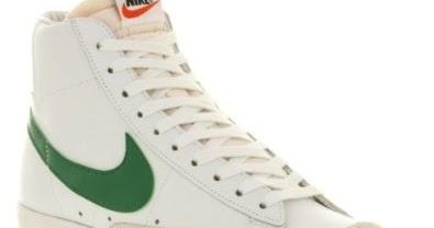 Buyonline ▻ Nike Blazer Mid Vintage 77 Blanche Vert Cuir Premium New Mens  formateurs Bottes