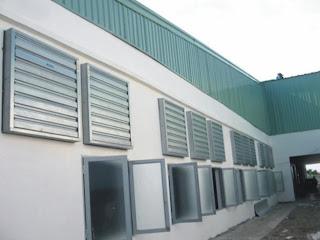 Hệ thống thông gió nhà xưởng , làm mát nhà xưởng