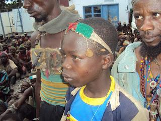 Les miliciens Bakata Katanga, ce samedi 23 mars, au siège de la Monusco/Lubumbashi/Ph.Radio Okapi.
