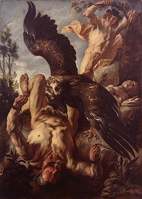 Prometheus bound, by Jacob Jordaens 1593–1678