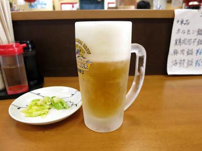 生ビールおつまみ付き