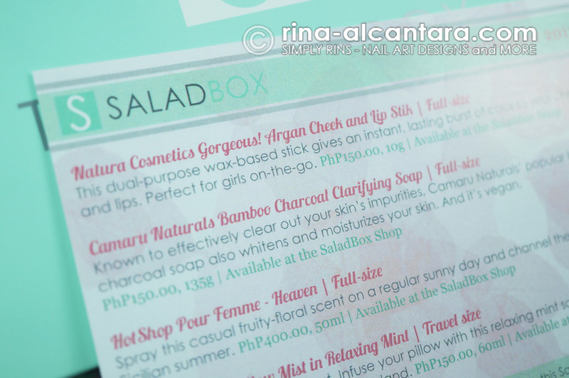 The Salad Box Description Card