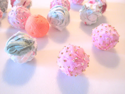 Fabric Beads With Cotton Balls Tutorial