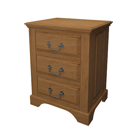 Hudson Nightstand with Drawers, Classical Maple