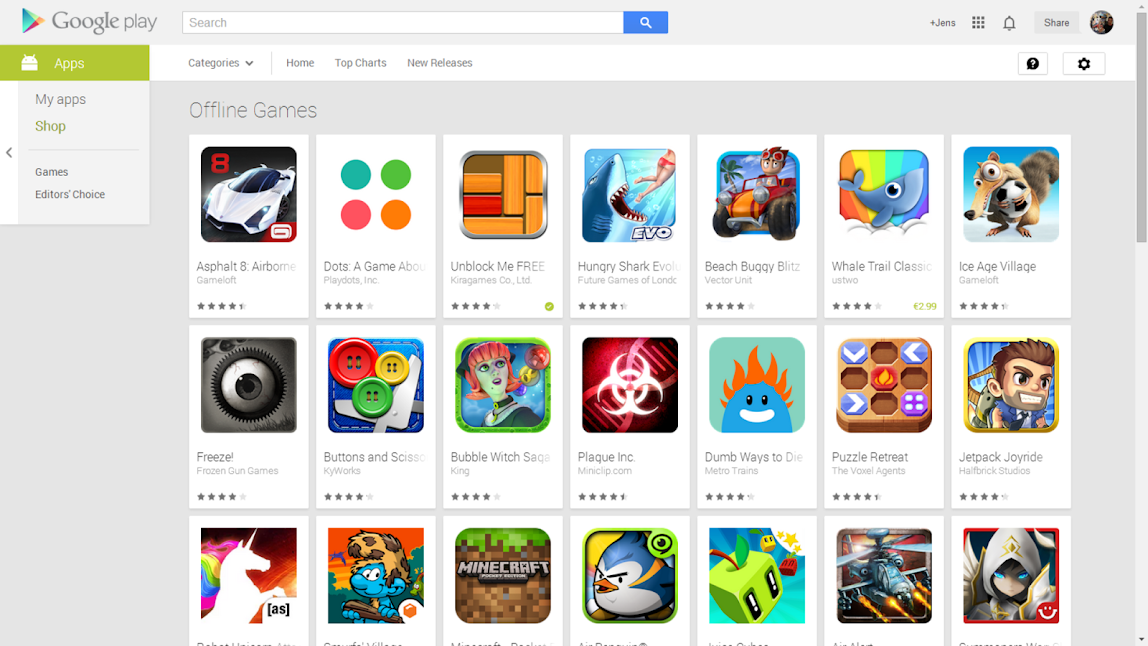 Google Play Offline Games