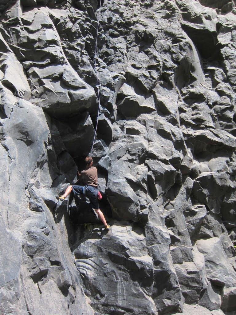 Rock climbing in Baños, Ecuador