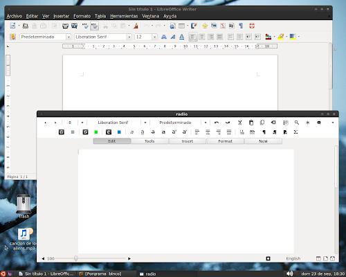 mockup LibreOffice