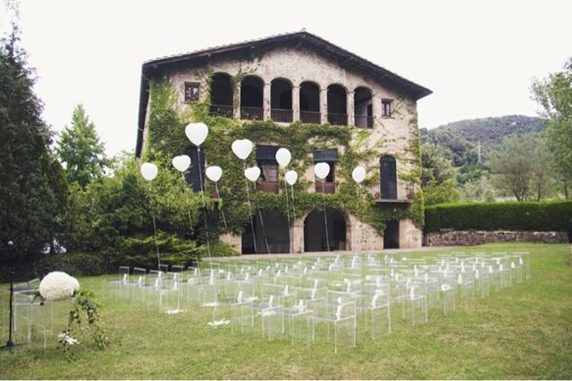 Sillas de plástico transparentes para boda