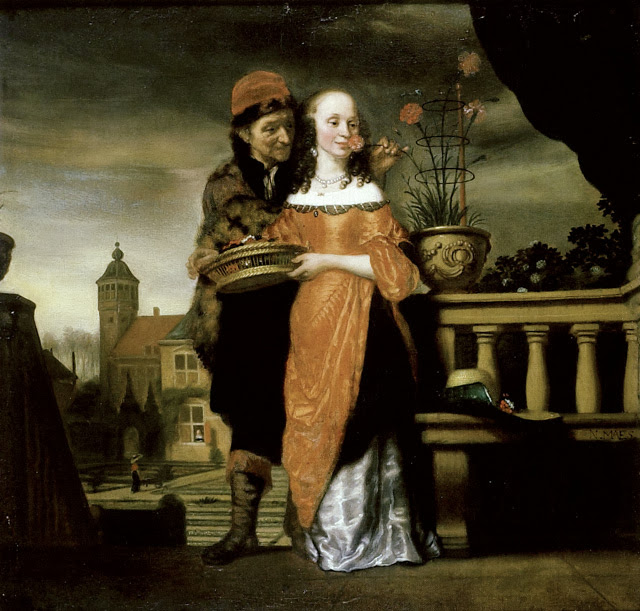 Nicolaes Maes - An Allegory of the Sense of Smell