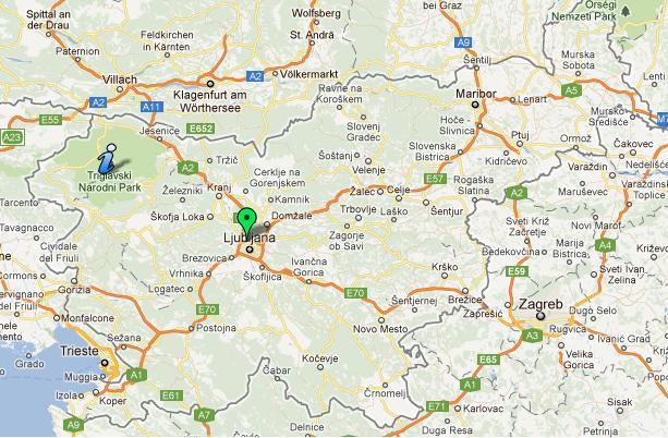 Mapa Stacji CNG w Słowenii - kliknij, aby zobaczyć