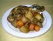 cuisses de canard aux navets caramélisés et carottes