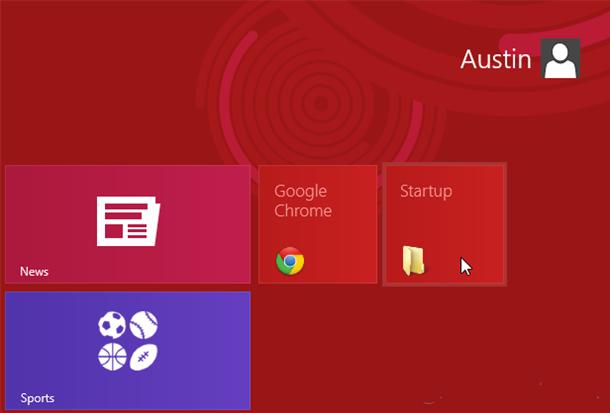 Cách lấy lại mục Startup trong Windows 8