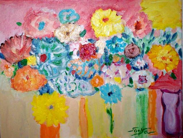 Suspended flowers, by Sonya Gonzalez
