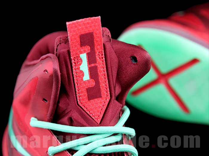 dec8518be91 First Look Nike LeBron X Christmas 8220Ruby8221 ...