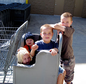 kids grocery shopping