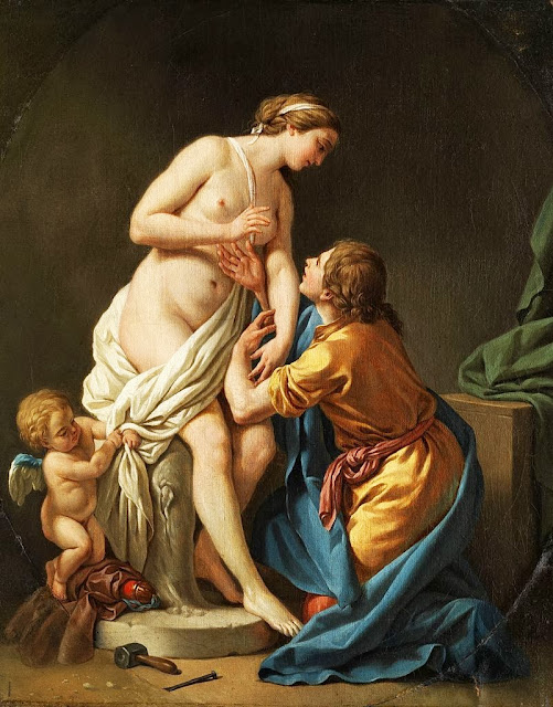 Louis-Jean-François Lagrenée - Pygmalion and Galatea