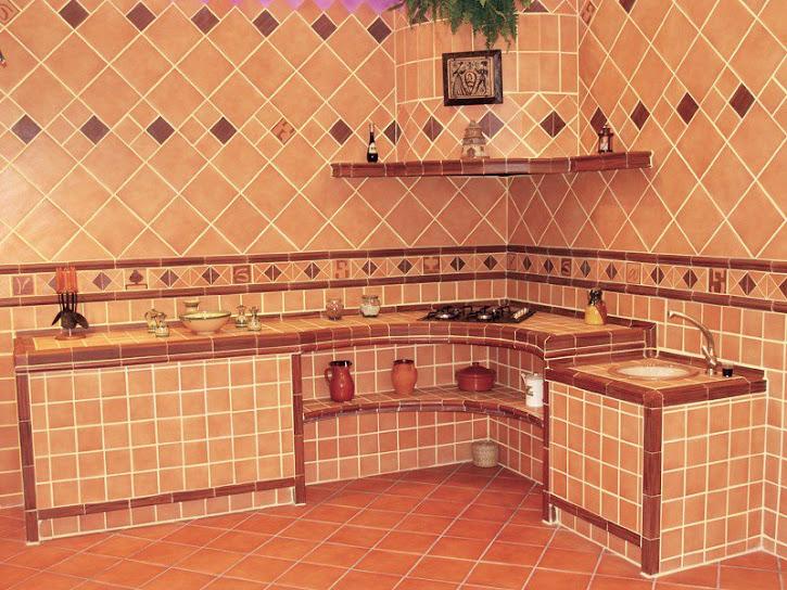cocinas de obras rusticas, cocinas integrales rusticas