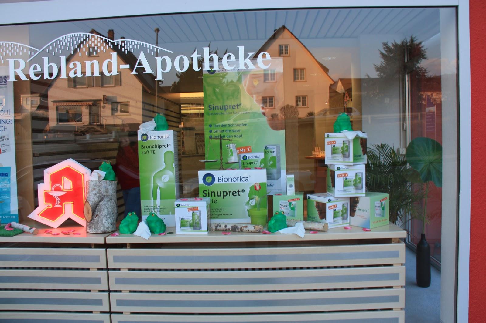 Blog der rebland apotheke unser schaufensterdekoration im Schaufensterdekoration