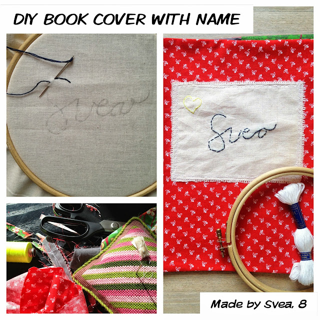 Diy Book Cover Embossing : Rie copenhagen diy fabric book cover