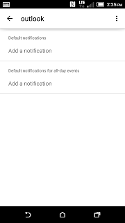 change default account android