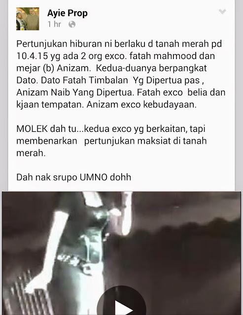 Nak Buruk Kan Nama Pemimpin Pas Kelantan Le Tu