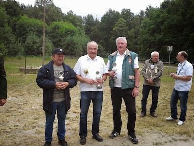 v. l.: Hans Kubisch, Schützenkönig Christian Walter, Peter Nowottne, Hans-Jörg Joas und Jörg Heinrich