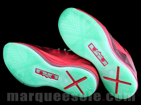 First Look Nike LeBron X Christmas 8220Ruby8221