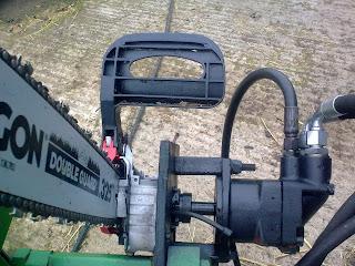 Homemade Firewood Processor With Hydraulic Chain Saw