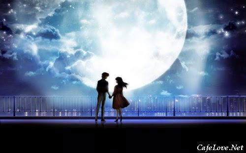 Ảnh lãng mạn dưới trăng