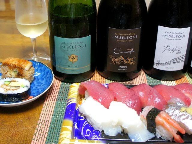 生産者ご来店!のシャンパンとお寿司の合性は