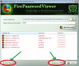 Recover Password Di Firefox Via FirePasswordViewer 2.6