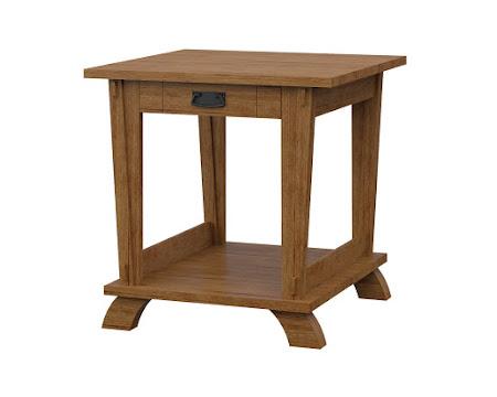 Baroque End Table in Como Maple