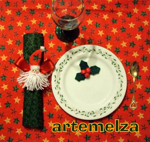 artemelza - porta guardanapo papai noel