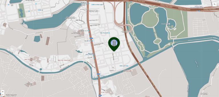 Vị trí chung cư Phương Đông Green Park Trần Thủ Độ