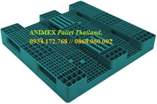 Pallet nhựa lưu kho 3 thanh chặn Heavy