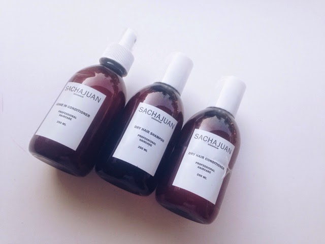 Sachajuan professional hair are, sachajuan dry hair shampoo, sachajuan dry hair conditioner, sachajuan leave in conditioner