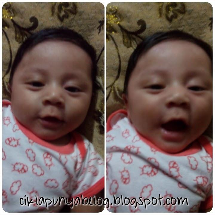 Bayi dan senyuman.