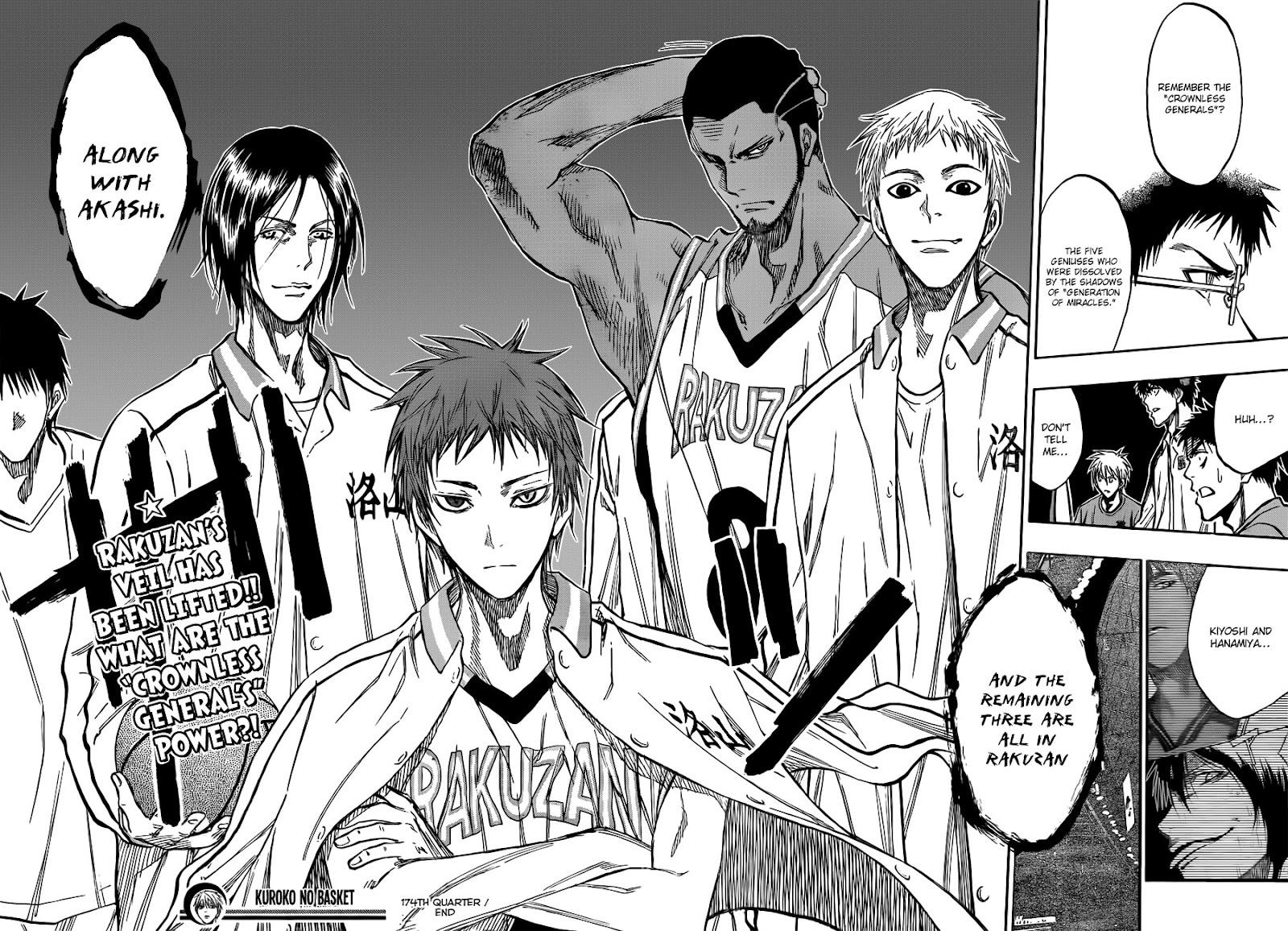 Kuroko no Basket Manga Chapter 174 - Image 18-19