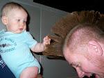 Baby Mohawk Touching #2