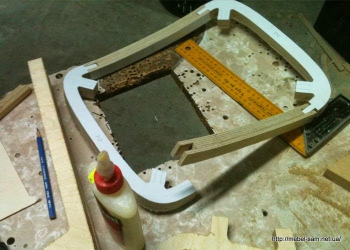 Сборка рамы сиденья фанерного стула